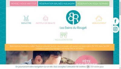 Site internet de Les Bains du Rouget