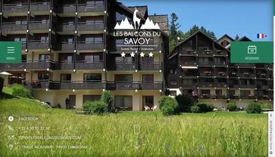 Site internet de Les Balcons du Savoy