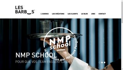 Site internet de Les Barbus