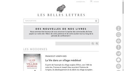 Site internet de Belles Lettres