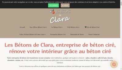 Site internet de Les Betons de Clara