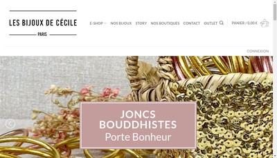 Site internet de Les Bijoux de Cecile