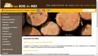 Site internet de Les Bois du Midi