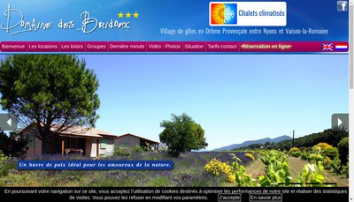 Site internet de Domaine des Bridoux