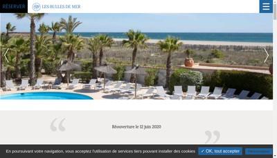 Site internet de Les Bulles de Mer Hotel Spa sur la Lagune