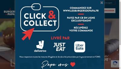 Site internet de Les Burgers de Papa