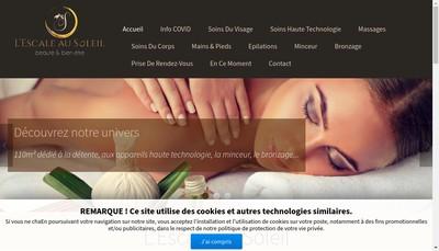 Site internet de L'Escale au Soleil