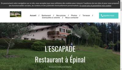Site internet de L'Escapade