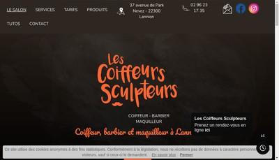 Site internet de Les Coiffeurs Sculpteurs