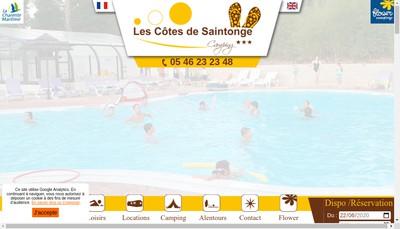 Site internet de Camping les Cotes de Saintonge