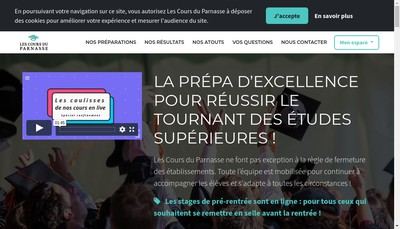 Site internet de Les Cours du Parnasse