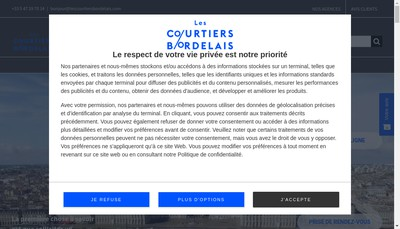 Site internet de Les Courtiers Bordelais