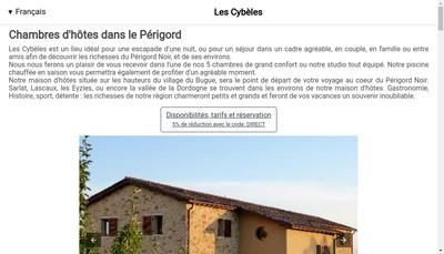 Site internet de Les Cybeles