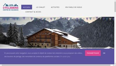 Site internet de Les Cyclamens