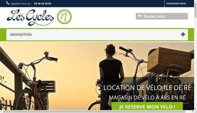 Site internet de Cycles et Peche Neveur