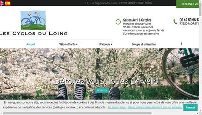 Site internet de Les Cyclos du Loing