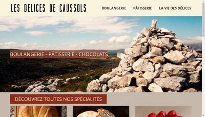 Site internet de Les Delices de Caussols