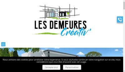 Site internet de Les Demeures Creativ '