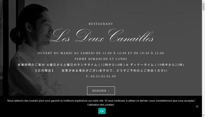 Site internet de Les Deux Canailles