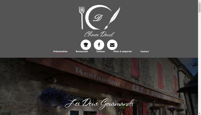 Site internet de Les Deux Gourmands
