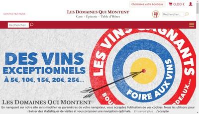 Site internet de Les Domaines Qui Montent