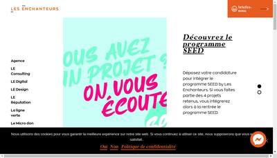 Site internet de Les Enchanteurs Digital