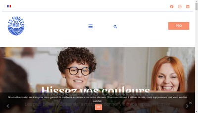 Site internet de Les Entrees de la Mer