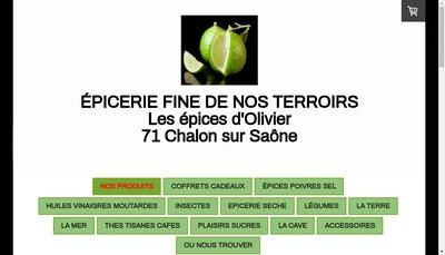 Site internet de Les Epices d'Olivier