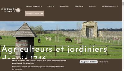 Site internet de Les Fermes de Gally