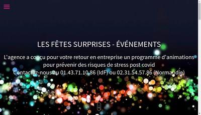 Site internet de Les Fetes Surprises-Evenements