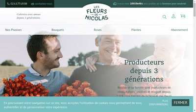 Site internet de Les Fleurs de Nicolas