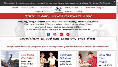 Site internet de Les Fous du Swing Production