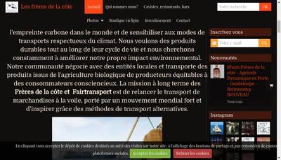 Site internet de Les Freres de la Cote