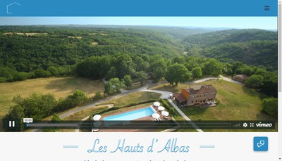 Site internet de Les Hauts d'Albas