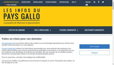 Site internet de Les Infos du Pays Gallo