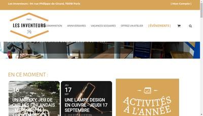 Site internet de Les Inventeurs