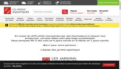 Site internet de Les Jardins Aquatiques