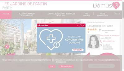 Site internet de Les Jardins de Pantin