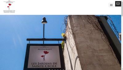 Site internet de Les Jardins de Sainte Cecile