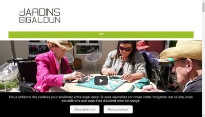 Site internet de Les Jardins du Cigaloun