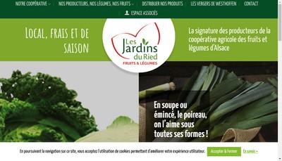 Site internet de Les Jardins du Ried