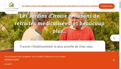 Site internet de Les Jardins d'Iroise de Saint Gratien