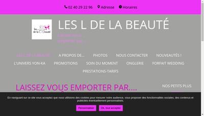 Site internet de Les L de la Beaute
