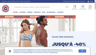 Site internet de Le Slip Francais