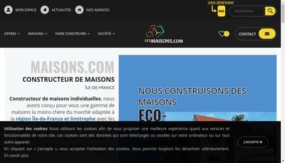 Site internet de Maisons Com