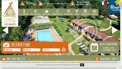 Site internet de Camping les Nauves