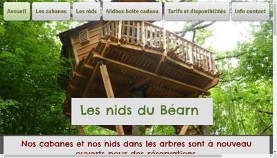Site internet de Les Nids du Bearn