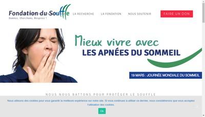 Site internet de Fondation du Souffle