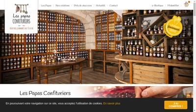 Site internet de Les Papas - Confituriers