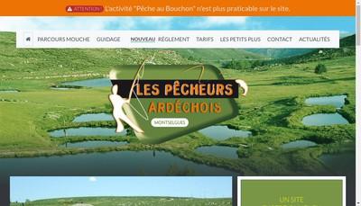 Site internet de Les Pecheurs Ardechois